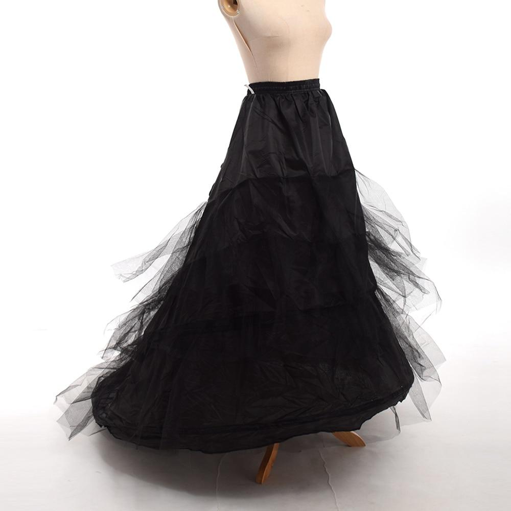Women Tailed Wedding Dress Bustle Petticoat Chapel Train