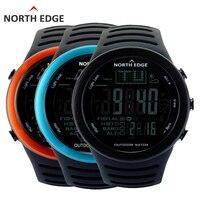 NORTHEDGE Homens relógios ao ar livre relógio Digital relógio de tempo de Pesca Altímetro Termômetro Barômetro Altitude Escalada Caminhadas horas