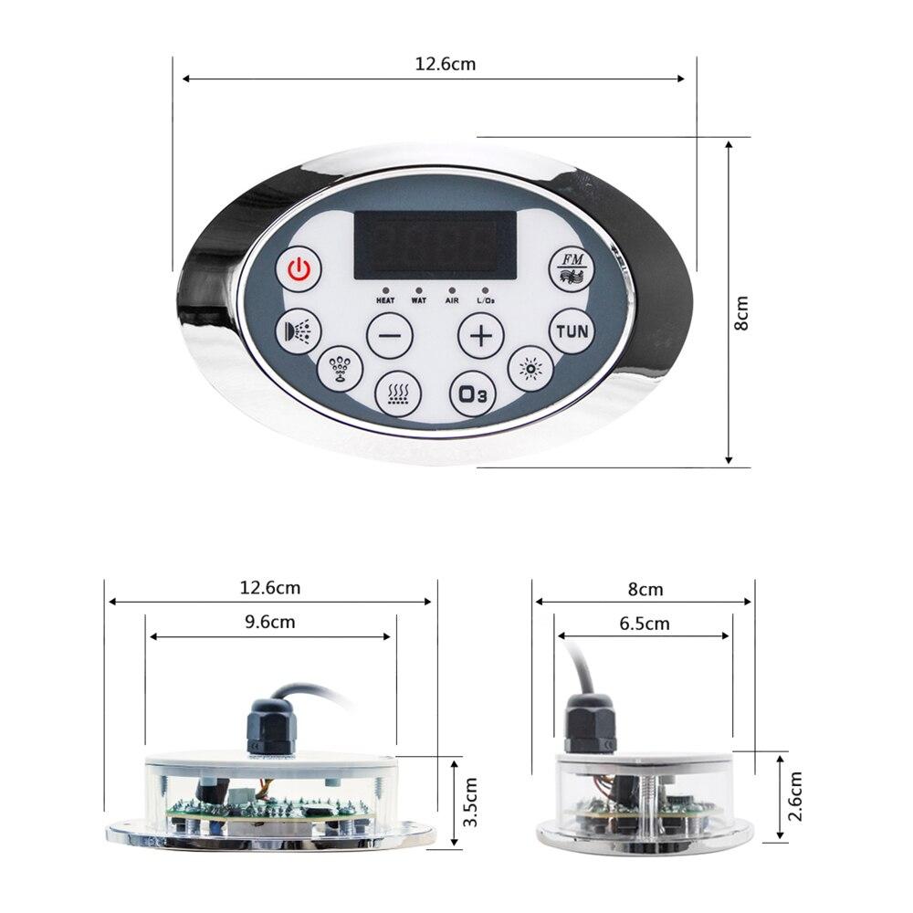 Display lcd ac 110/220 v banheira bomba painel de controle com combinação água massagem ar banheira sensor termostática função aquecedor-3