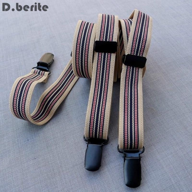 Mens Casual Stripes Braces Unisex Adjustable Clip-on Suspenders Adult Belt Strap Clip Braces For Wedding Party BDXJ213