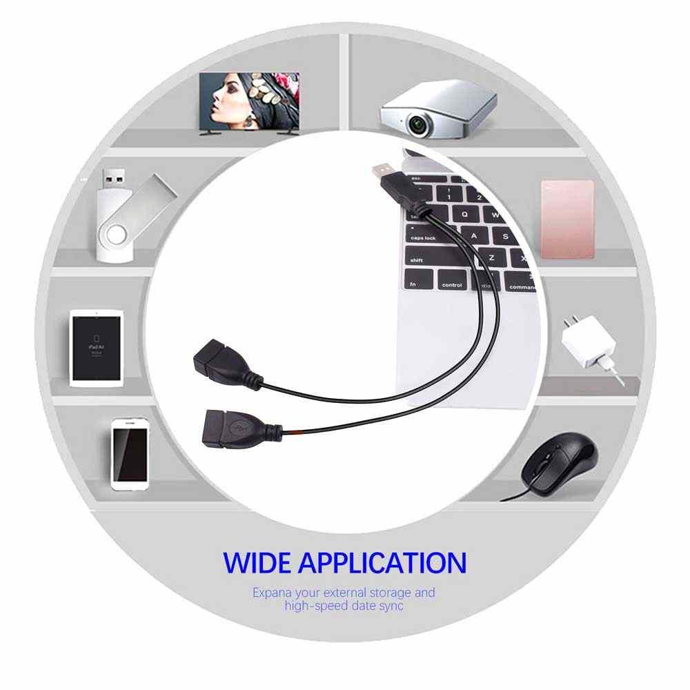 Itinftek 2 Poort USB2.0 Hub Usb 2.0 Male Naar 2 Dual Usb Vrouwelijke Jack Splitter Hub Netsnoer Adapter Voor pc Telefoon Laptop Kabel