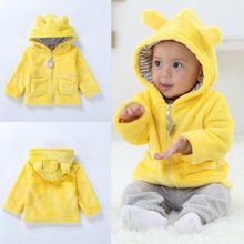 Newborn Baby Hooded Coat Boys Girls Autumn Winter Long Sleeves Keep Warm Hooded Jacket Coat Clothes Snowsuit Tops #YL5(China)