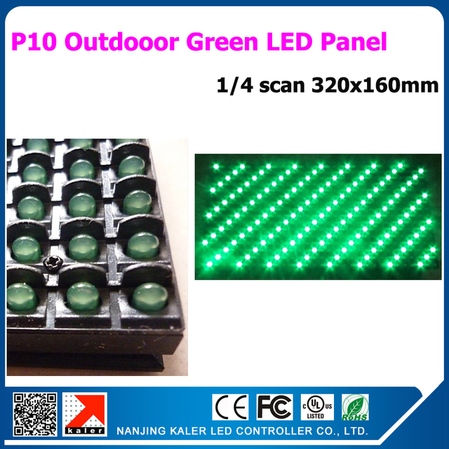 TEEHO Promotion P10 Green Dot-matrix LED Sign Panel 320*160MM 1/4Scan Outdoor Waterproof Scrolling Message LED Display Billboard