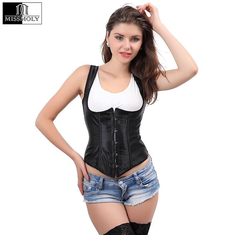 Hot Sexy Waist Trainer   Corset   Steel Boned Steampunk Lace Up   Corsets   And   Bustiers   Plus Size Underbust Corselet Body Shaper TYQ