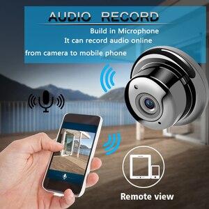 Image 4 - AOUERTK 90/180 Degree Camera720P Two Way Audio SD Card Slot WiFi  night vision Video IP Camera WiFi Mini CCTV