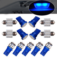 replacement car Dome Bulbs Accessories Blue 13Pcs LED Interior License Plate Lights Kit Package Lamp Car Replacement Practical (2)