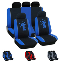 Dewtreetali 9pcs/Set Universal Car Seat Cover Car Seat Protector Gecko Red Gray Blue Interior Accessories for VW LADA