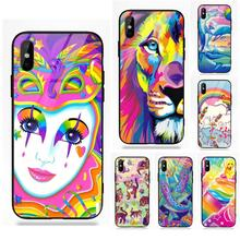 Vvcqod Colors Lisa Frank Tiger Horse Dog Cat For Apple IPhone 5 5C 5S SE 6