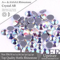 A Flatback Loose High Quality Glass Crystal AB SS20 Hotfix Rhinestones 1440pcs For Clothing Accessories