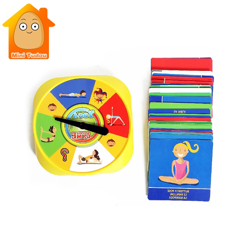 Beautiful Yoga Spinner Party Game With 54pcs Yoga Pose Cards For Kids Award Winning Game For Yoga Loving Parents And Their Kids,2+player Delicious In Taste