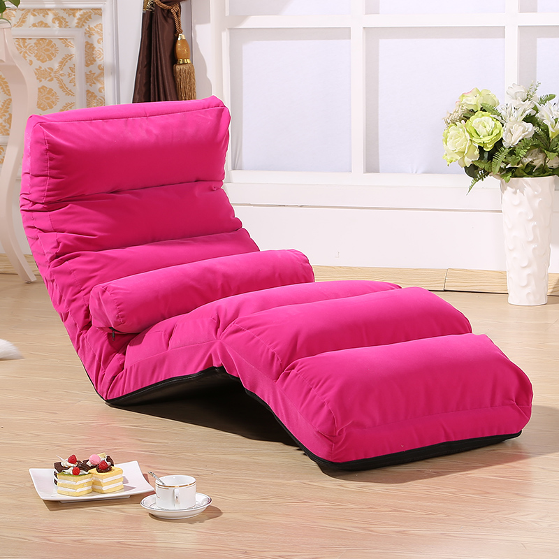 Floor Sofa Chair Folding Adjustable Sleeper Bed Living Room Furniture Lazy Couch Modern Single