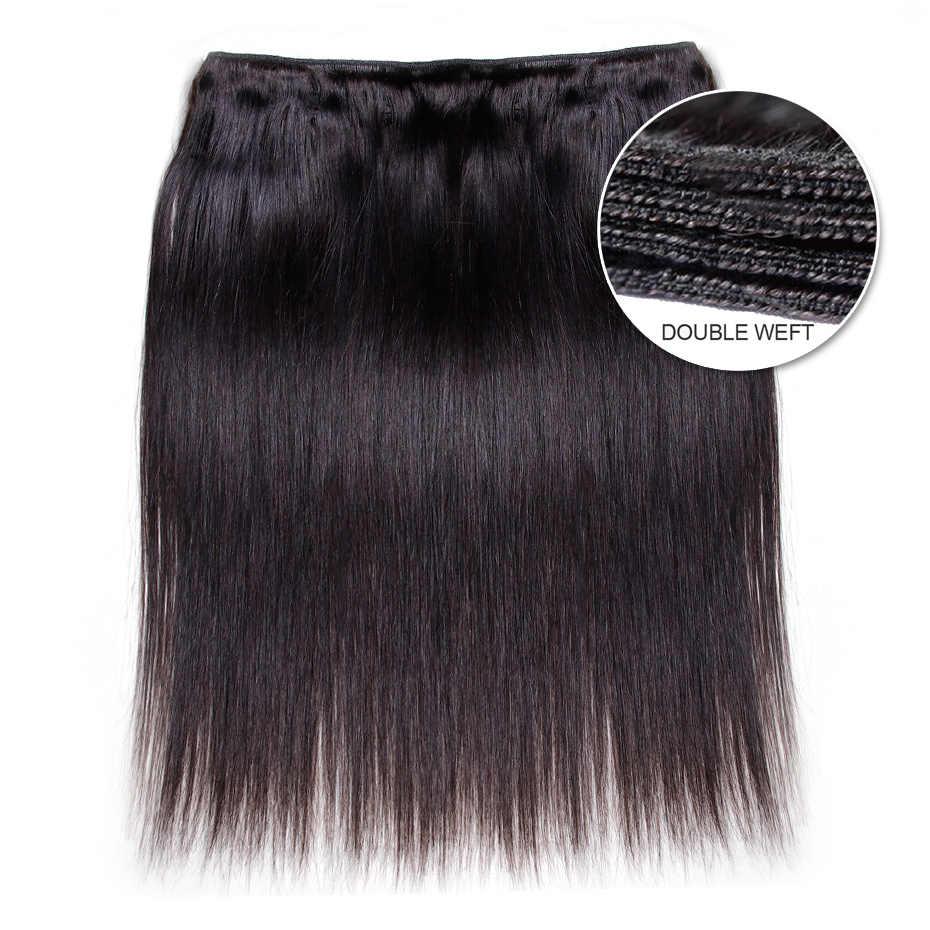 Габриель бразильские прямые волосы пучки с 360 синтетический fronic натуральный цвет не Реми человеческие волосы переплетения пучки с закрытием