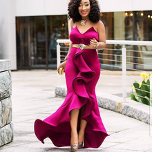 2019 new arrival sexy fashion style summer african women beauty plus long dress S-XXL