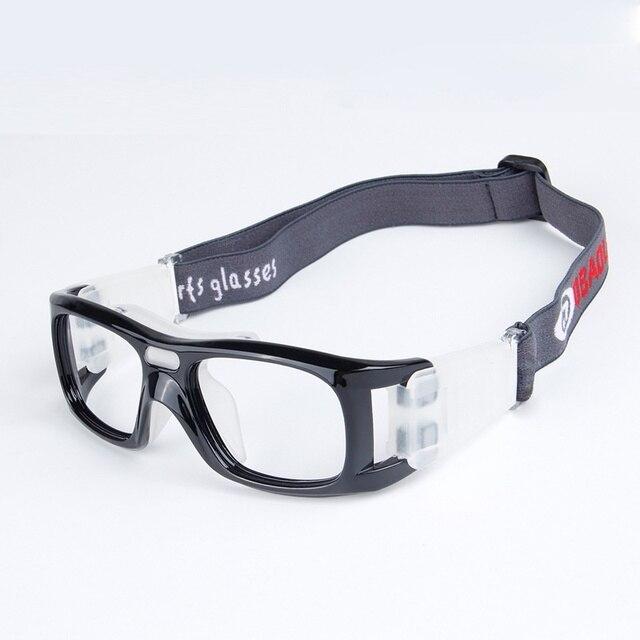 2-en-1 lunettes de basket-ball cadre optique amovible jambes et sangle lunettes de sport de protection (gris) 6ols6CHd6Q