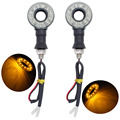 New Styling 2pcs 12 LED Motorcycle Moto Motorbike Circle Turn Signals Indicators Lamp Amber Blinker Flasher Tail Light 12V