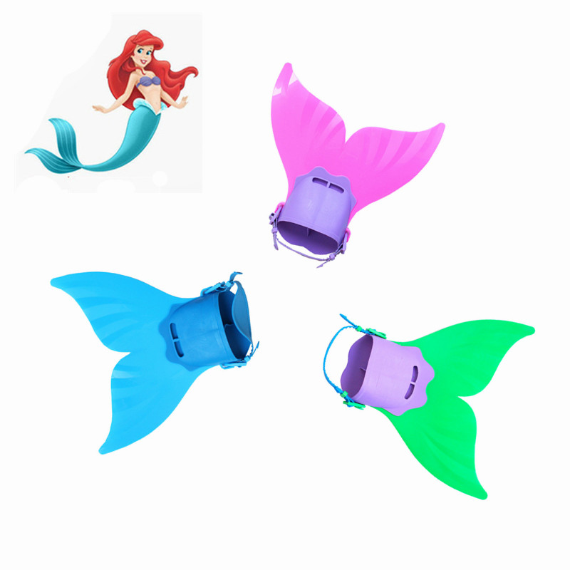 Hot Sale Kids Swimming Fins Training Flipper Mermaid  Children Diving Feet Tail Monofin