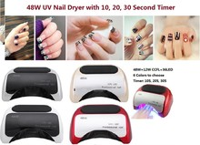 48W Nail Dryer – UV lamp for nail Polish UV Gel fast dry CCFL LED  Nail tools with automatic sensor Salon Beauty Equipment