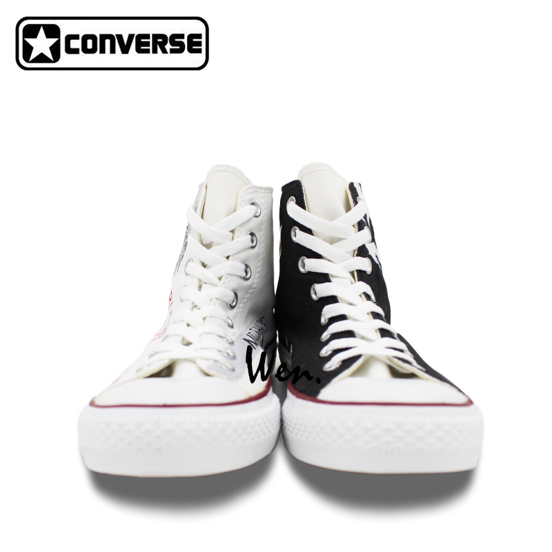 Anime Converse All Star Men Women Shoes Bleach Kurosaki Ichigo Design Hand  Painted Shoes High Top Sneakers Christmas Gifts-in Skateboarding Shoes from  ...