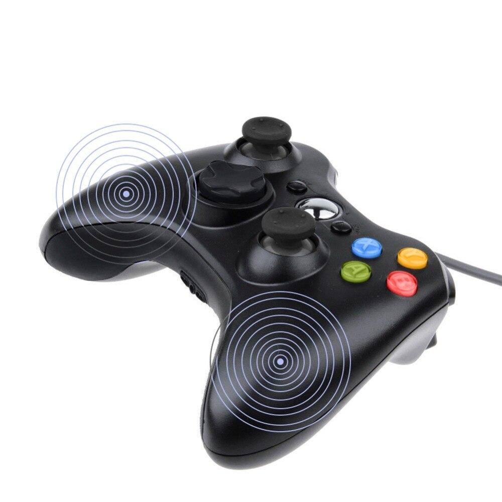 USB Verdrahtete 360 Geformt Joypad Joystick Gamepad Controller Für PC für Windows 7/8/10
