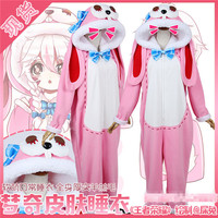 The Popular Game King of Glory Cosplay Costume Cute Cartoon Cat Pajamas Pink Jumpsuits with Hat Full Sets