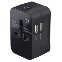 All in One International Plug Adapter World Universal Travel Adapter With Dual USB Convertor Wall Plug Power swa2 universal travel power plug adapter w safety lock dual usb black