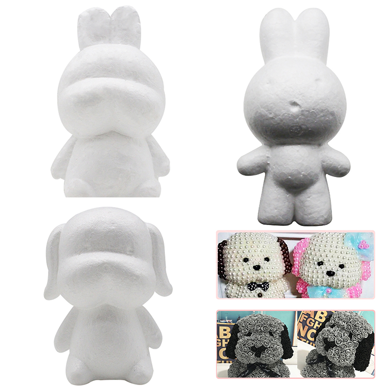 Kids Polystyrene Foam DIY Animals Modelling Toys Children Handmade Rabbit Dog Cartoon Birthday Gifts Handwork Craft Ornaments