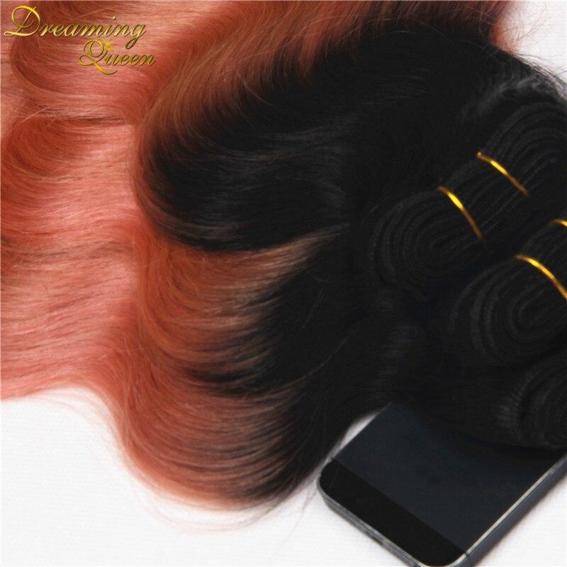 Trendiest Color Ombre Brazilian Virgin Hair 3 Pcs Human Hair Ombre
