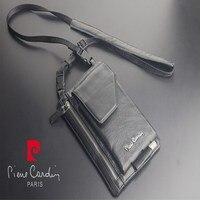 Pierre cardin male casual shoulder bag man bag cowhide genuine leather bag for LG G3 G4 G5 G6 G7 V10 V20 V30 mobile phone bag