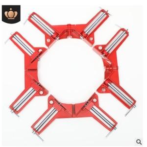 Image 3 - 4 個 75 ミリメートルマイターコーナークランプ額縁ホルダー木工直角赤