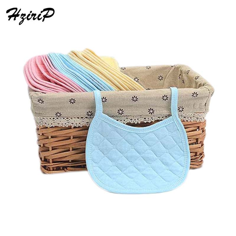 HziriP Hot 2018 Baby Newborn Cotton Bib Cartoon Solid Colors Duplex Baby Bibs Waterproof Thicken Bibs Baby High Quality