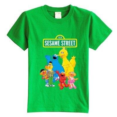 Children's T shirt summer short sleeve Sesame Street cartoon 100% cotton boy girl kid t shirt