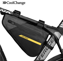 CoolChange Front Frame Bag Waterproof Bicycle Triangle Large Capacity Outdoor Sports Cycling Pannier Bike Accessories