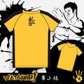 2017 Hombres Del Verano Amarillo Bruce Lee Camiseta Juego De La Muerte de Manga Corta T Camisa Kung Fu Master Dragón Camiseta de Algodón