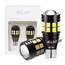 Aglint 2 pces t15 t16 w16w 921 lâmpadas led canbus obc erro livre 912 2835smd 22leds carro de backup lâmpada reversa luzes brancas 12-24v led