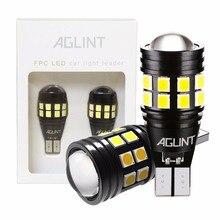 Aglint 2 pces t15 t16 w16w 921 912 lâmpadas led canbus livre de erros 2835 smd 22leds carro backup lâmpada reversa luzes xenon branco 12 24v