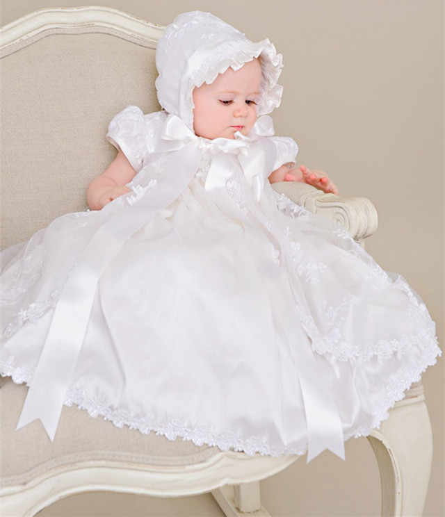 d0363723ea2b Detail Feedback Questions about White Ivory Heirloom Baby Lace Dress  Christening Gown with Bonnet Bow Sash Baby Girls Baptism Dress on  Aliexpress.com ...