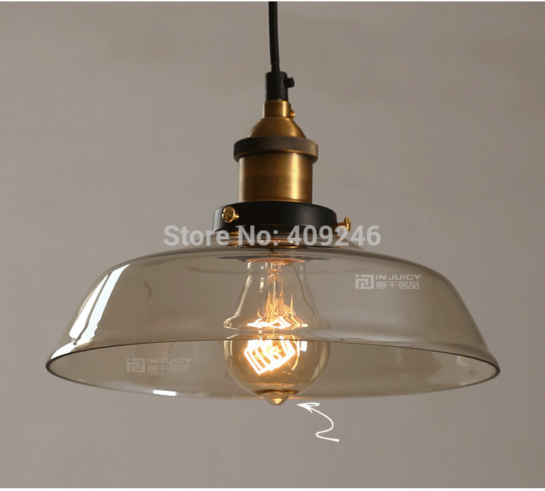 Edison Inustrial Loft Vintage Amber Glass Basin Pendant Lights Lamp for Cafe Bar Hall Bedroom Club Dining Room Droplight Decor loft retro tree glaze glass pendant lamp lights cafe bar art children s bedroom balcony hall shop aisle droplight decoration