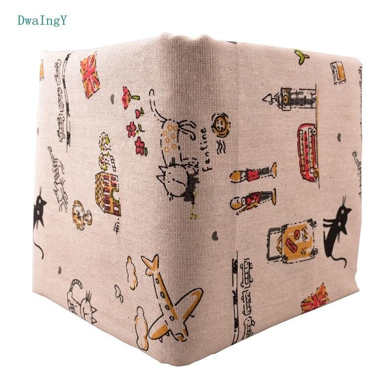 DwaIng kot wzór tkaniny bawełniane, lniane dla majsterkowiczów, i szycia Quiltin, Sofa stół, tkaniny meble pokrywa tkanki materiał poduszki 50x150 cm