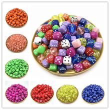 30PCS/Lot 6 Sided Portable Drinking Dice 8MM Acrylic Round Corner Board Game Dice Party Gambling Game Cubes Digital Dices acrylic 10 side game dice green 5 pcs