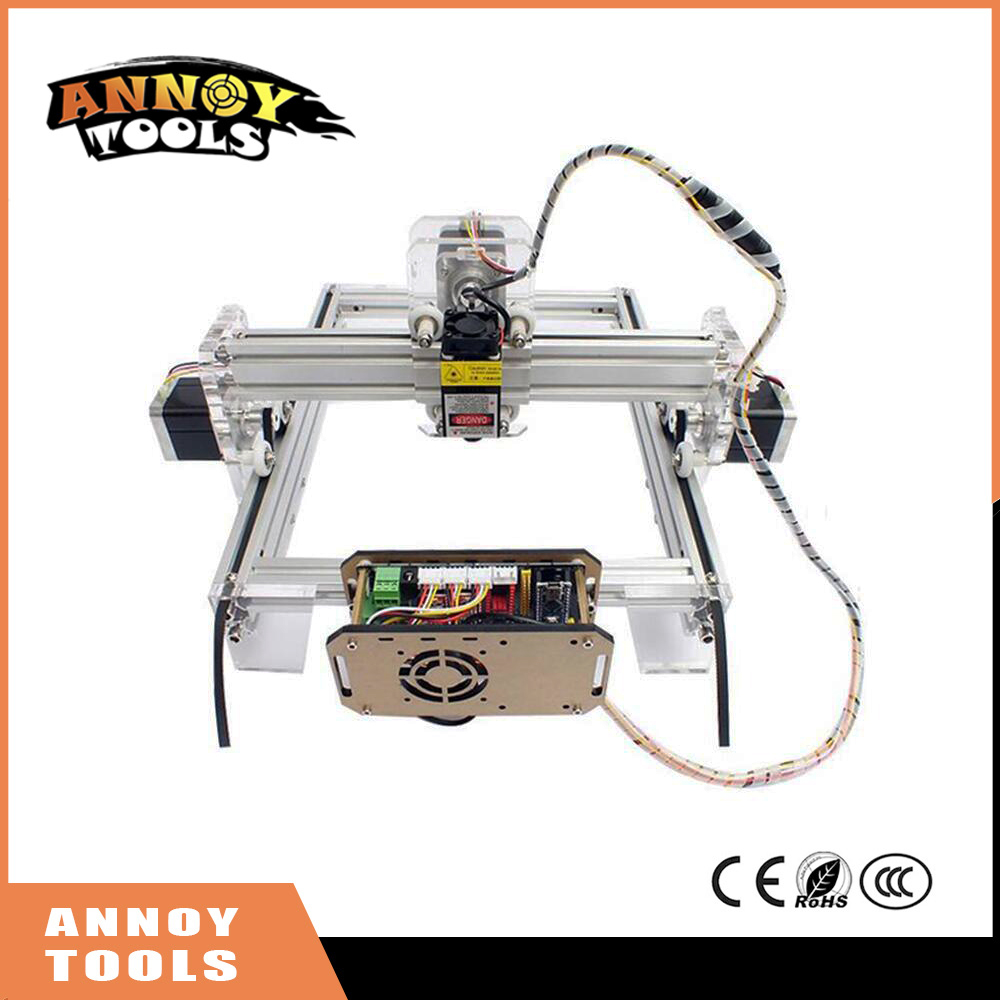 ANNOYTOOLS DIY laser engraving machine 500MW-5500MW 10W 15W metal engraved marking machine metal carving machine advanced toys manual metal bending machine press brake for making metal model diy s n 20012