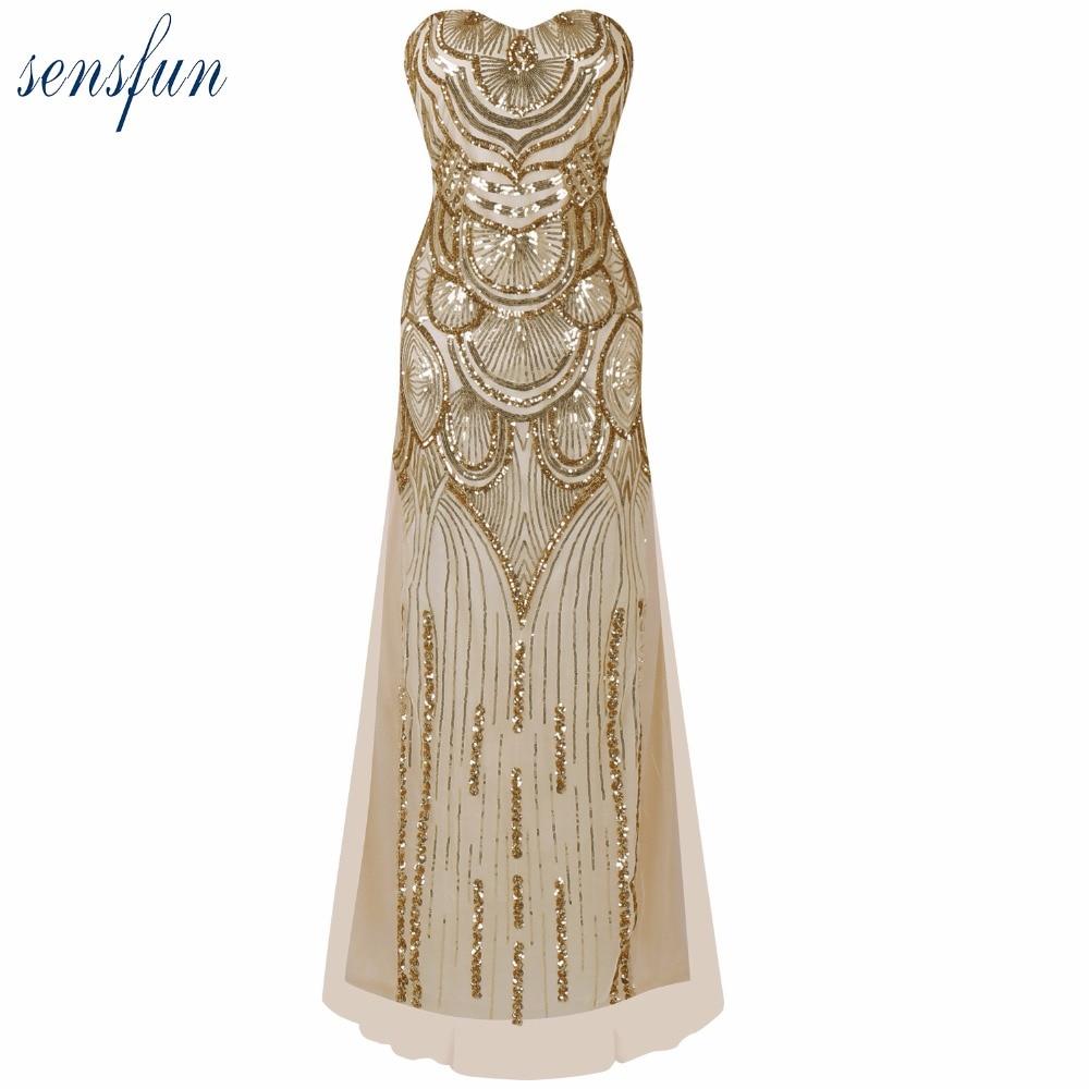 Women\'s 20s Style Shining Flapper Dress 1920s Vintage Gatsby Great ...