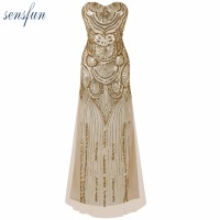 Sensfun Women S 20s Style Shining Flapper Dress Vintage Gatsby Great Gatsby Charleston Sequin Tassel Party