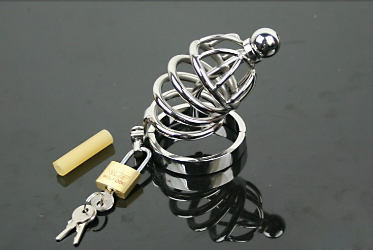 Stainless Steel Cock Cage With Steel Catheter, Penis Sleeve,Male Chastity Device,Metal Chastity Belts Adults Sex Toys For Man wearable penis sleeve extender reusable condoms sex shop cockring penis ring cock ring adult sex toys for men for couple