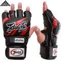 Boxen Handschuhe Kämpfen Sport Muay Thai Sanda Handschuh Schwarz Leder Handschuh