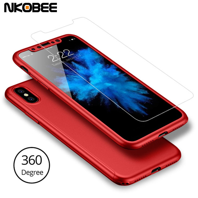 factory authentic 73dad a2827 US $184.99 |NKOBEE For iPhone X Case 50PCS/Lot Full Protective Cover For  iPhone X Case 360 Degree Full Body Protection Cover With Glass -in Fitted  ...