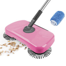 купить Stainless Steel Sweeping Machine Push Type Magic Broom Dustpan Handle Household Vacuum Cleaner Hand Push Sweeper Floor Robotic по цене 820.36 рублей