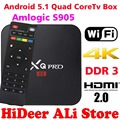 S905 MXQPRO Android TV Box Amlogic Quad Core Android5.1 DDR3 1G HDMI 2.0 WIFI 4 K 1080i/p Kodi 16.0 Completo cargado complementos PRO