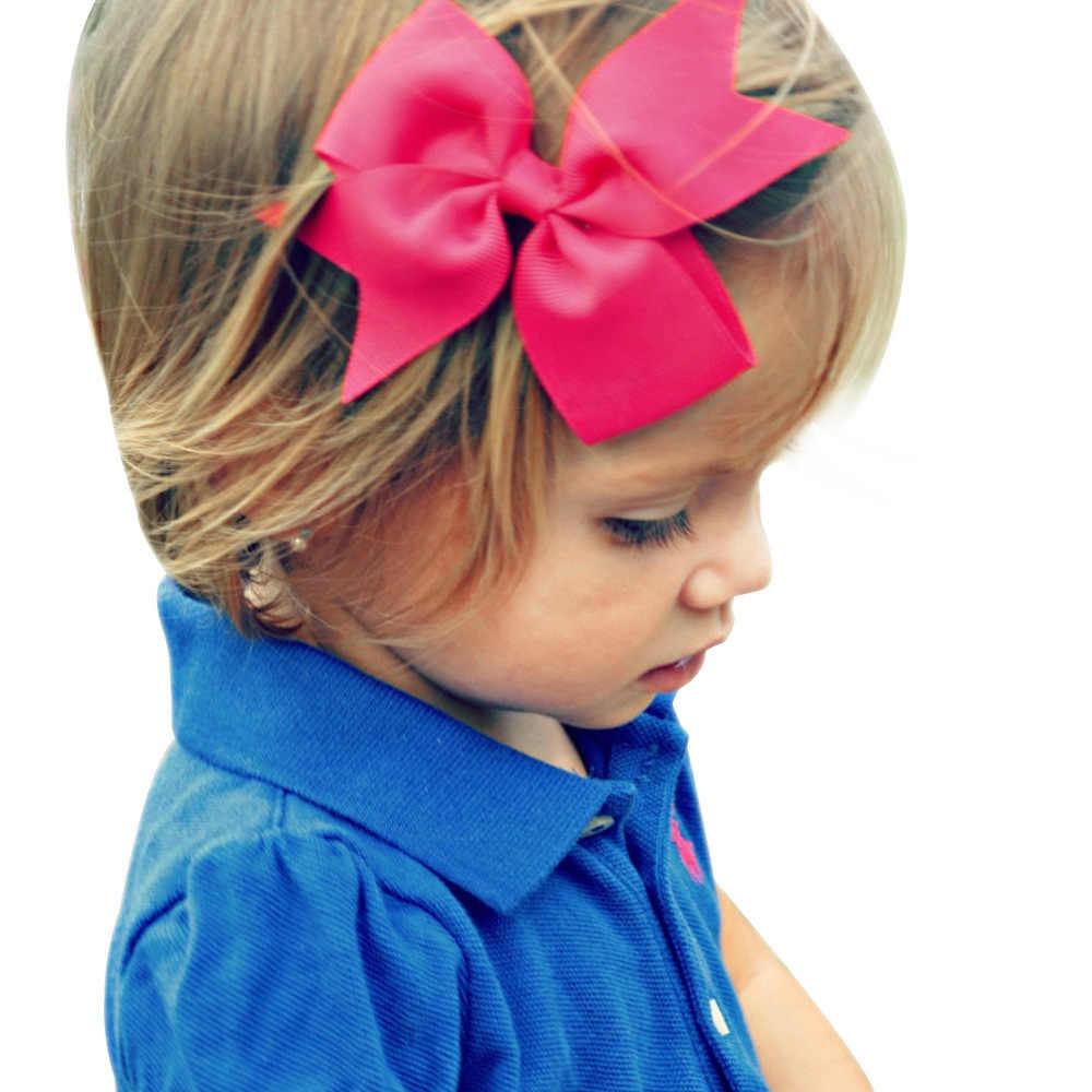 Повязка на голову для девочек младенческой заколки для волос Аксессуары Одежда Луки Головные уборы для новорожденных головной убор повязка для волос подарок для малышей заколки лента