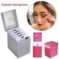 5 Layers Clear Eyelash Storage Box Acrylic Individual Lash Plate Pallet Holders Eyelashes Extension Display Container Tools