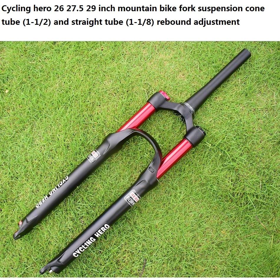 100 120mm Rechte/cone Air mountainbike Voorvering Plug bounce aanpassing 26 27.5 29 inch Optioneel gift VOS sticker - 5